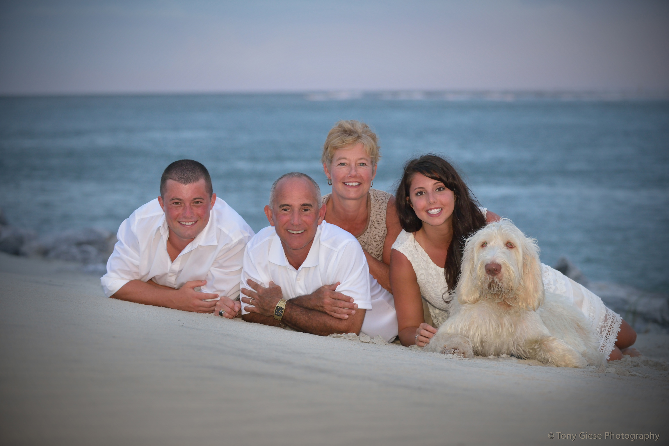 Wadsworth family beach portrait taken by professional photographer Tony Giese