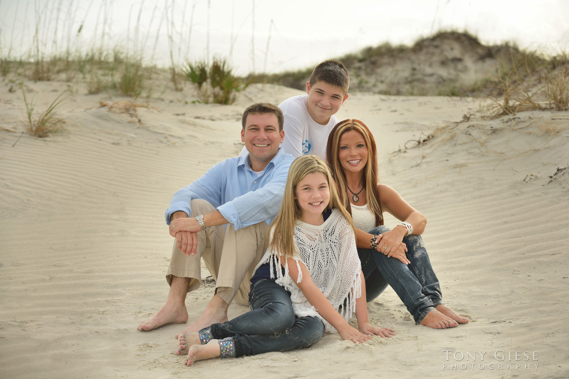 Family beach portraits by Tony Giese Photography