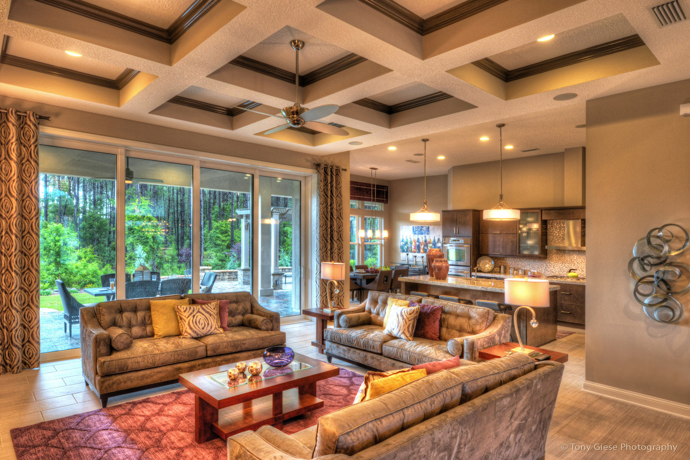 Beautiful new model home interior located in northeastern Florida.