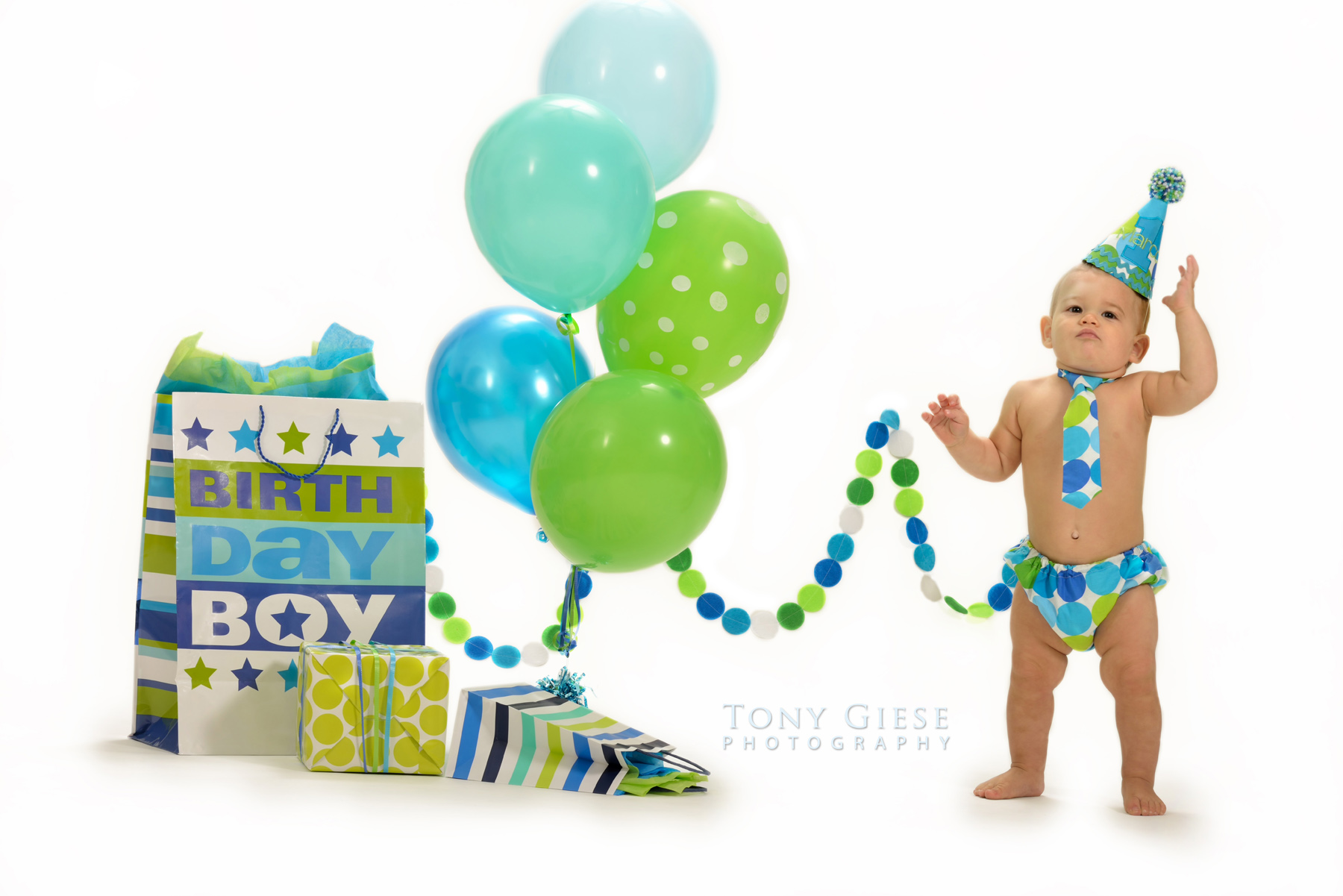 First year birthday photography by Tony Giese Photography