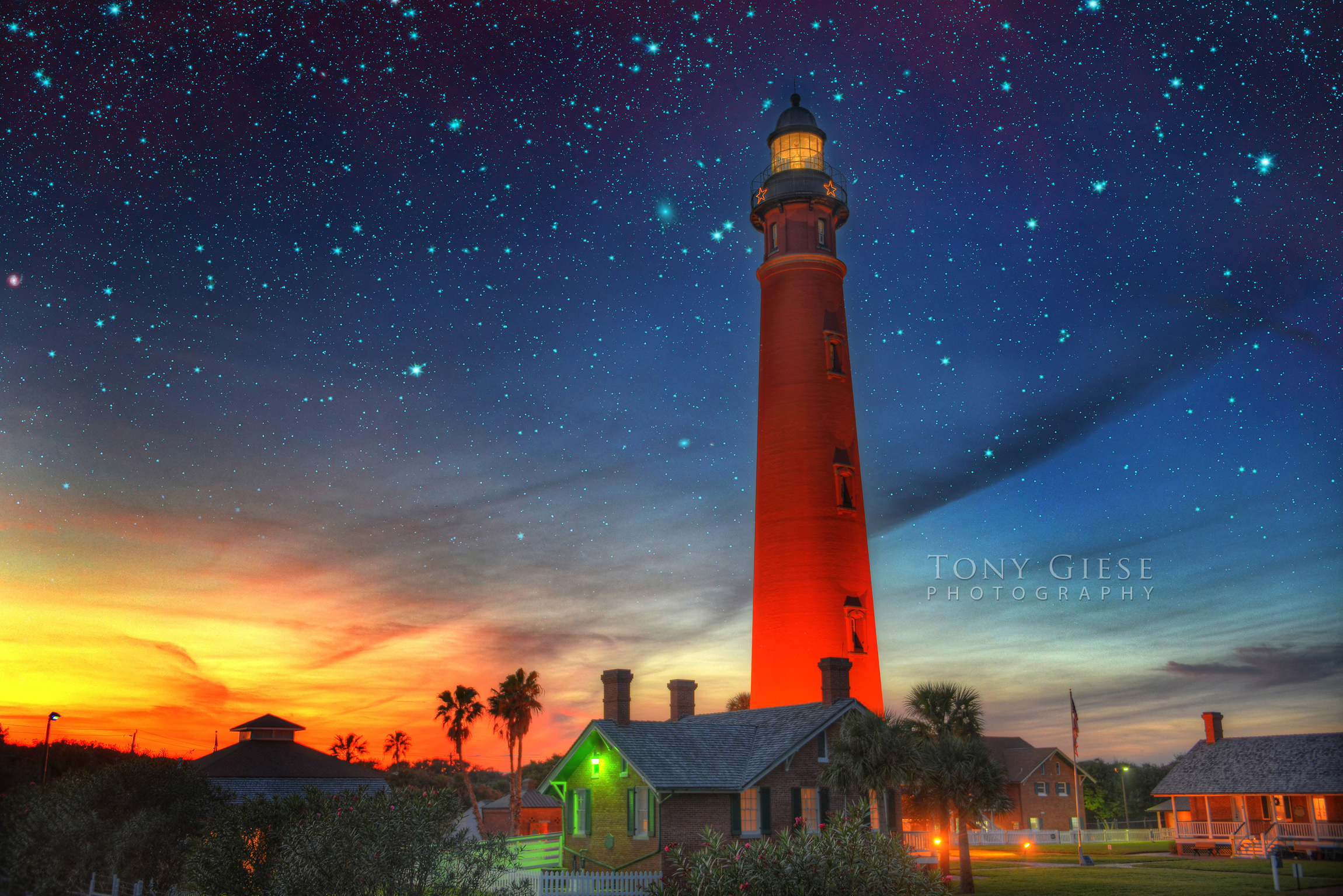 Ponce de Leon Inlet Lighthouse, Florida. Photograph by Tony Giese Photography