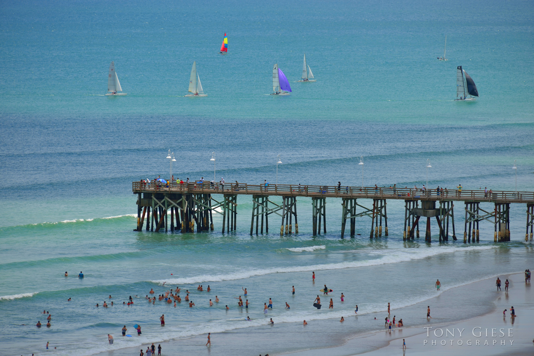 Sailboats near Main Street Pier, Daytona Beach. Photography by Tony Giese