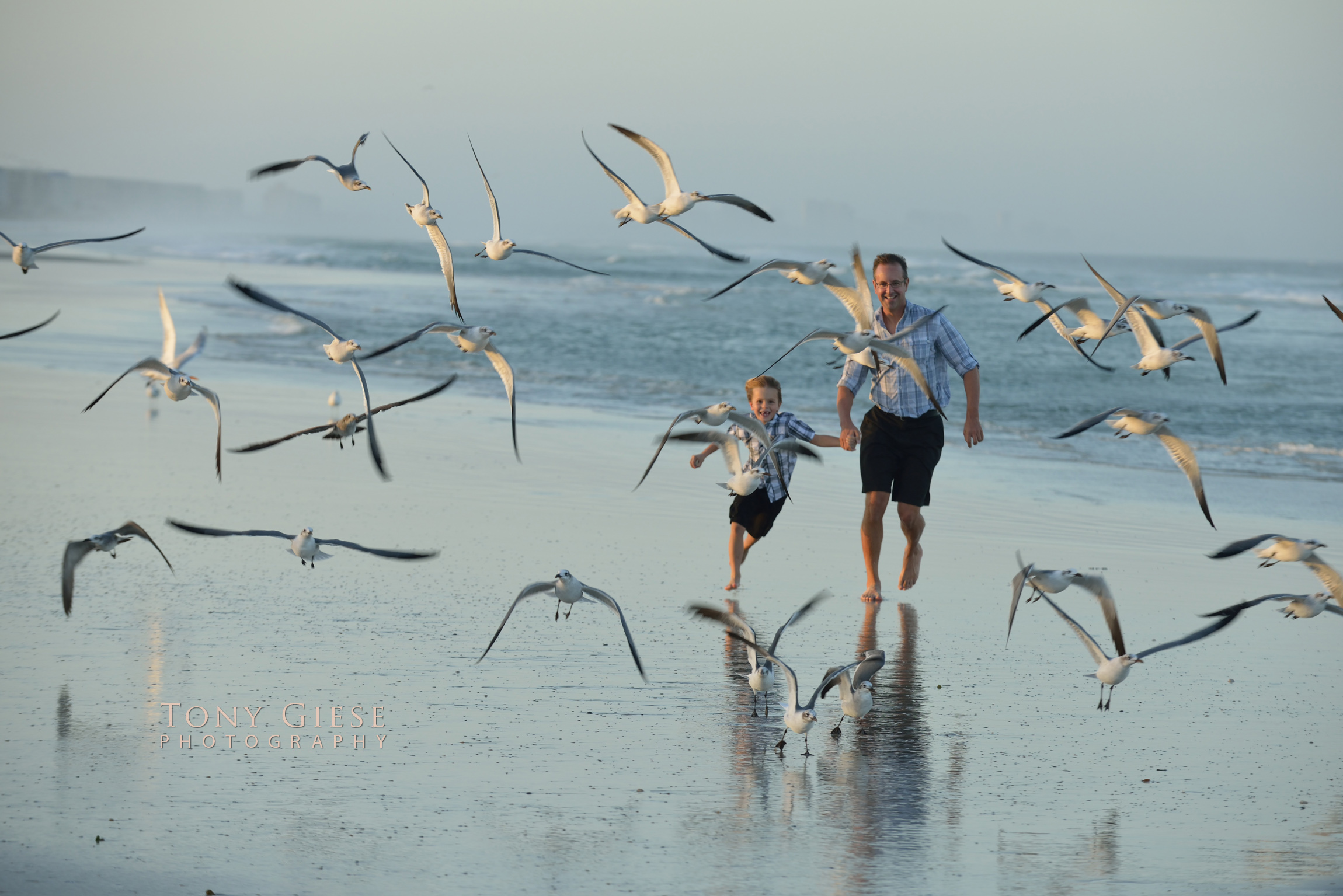 Great moments for candid shots on Daytona Beach, Florida by Tony Giese Photography.