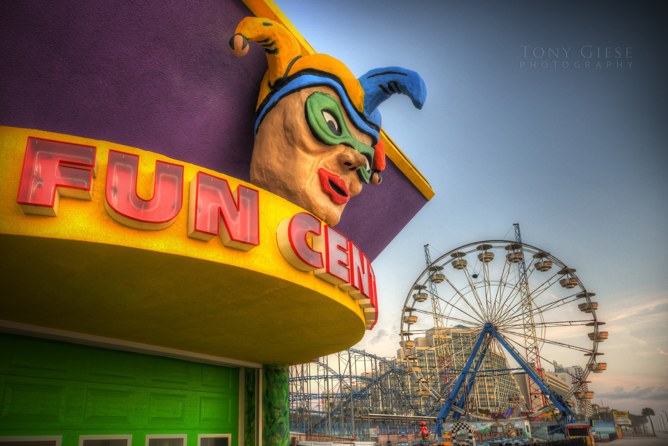 Amusement Fun Center on Boardwalk Daytona Beach, Florida.