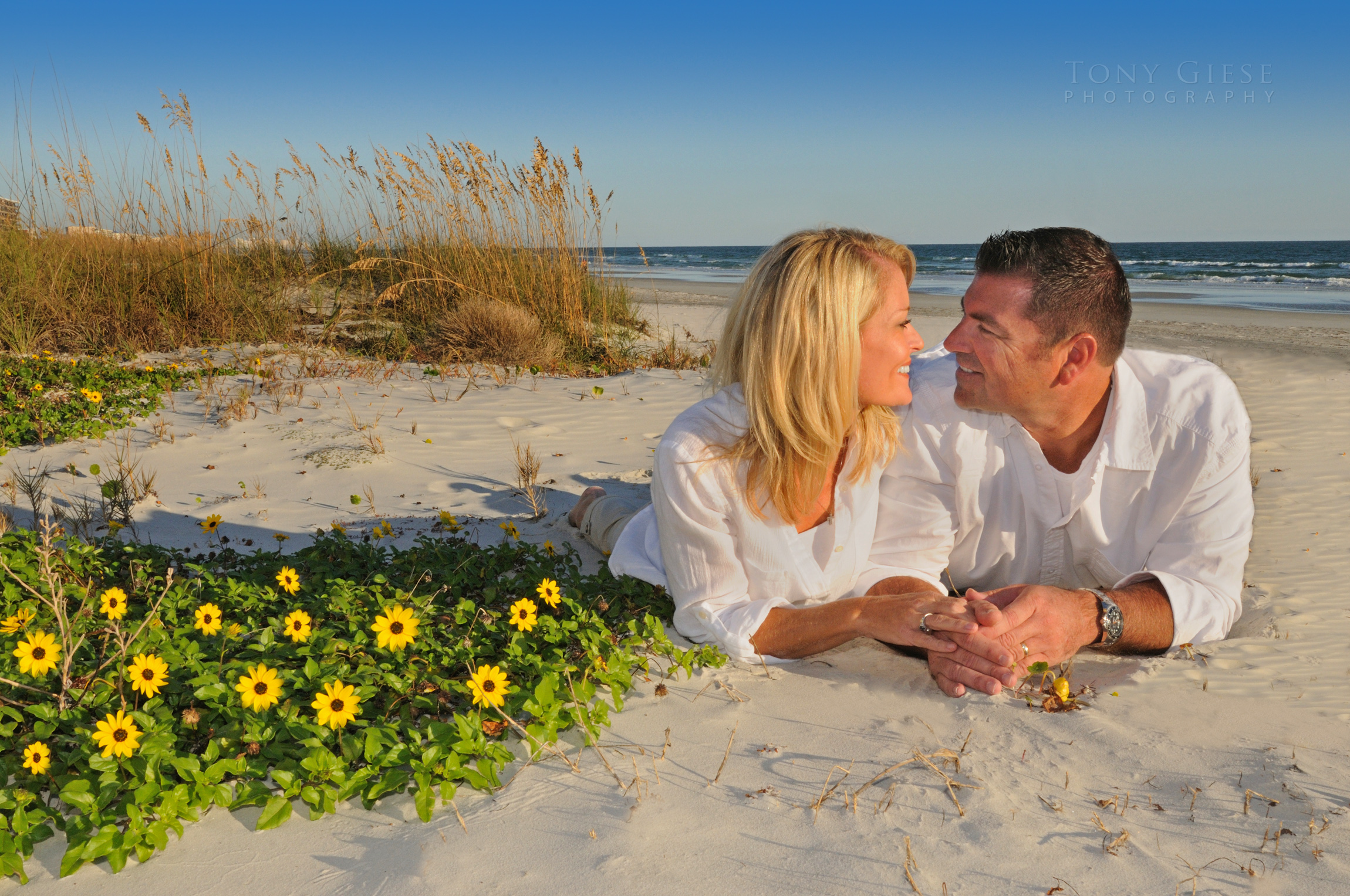Romance on Daytona Beach, Florida.