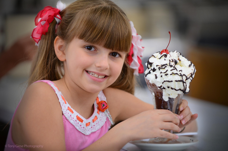 Enjoying ice cream New Smyrna Beach, Florida. Photo by Tony Giese.