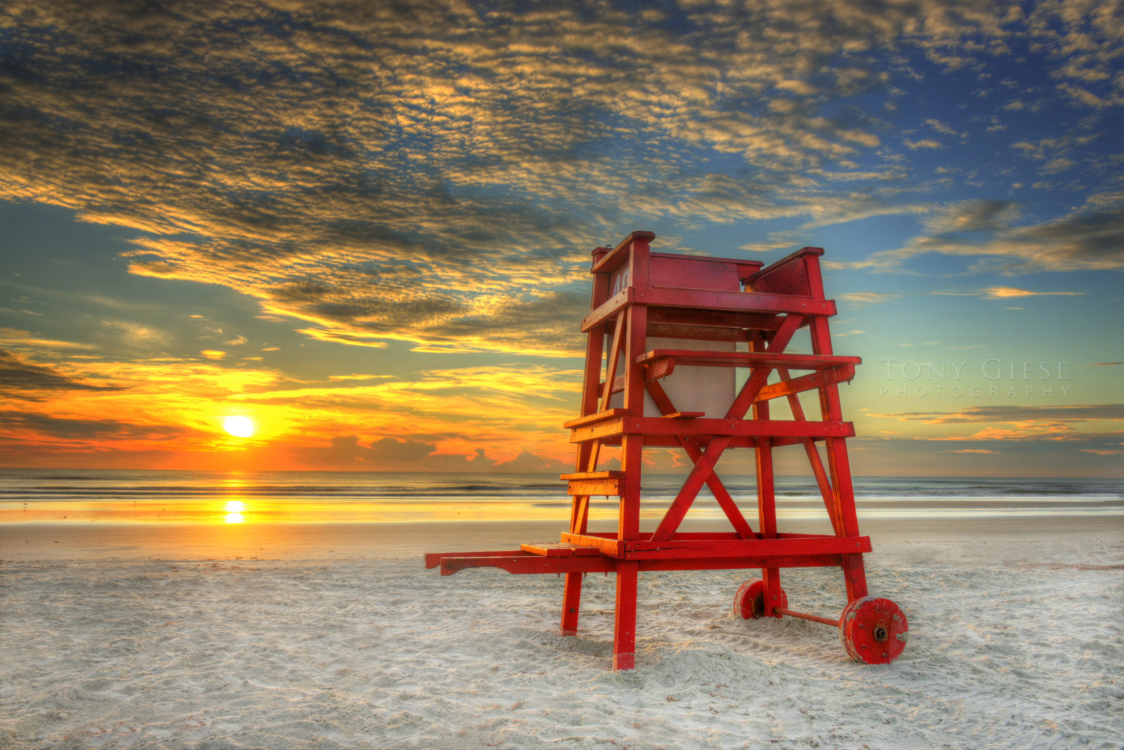 Life guard stand on New Smyrna Beach, Florida. Photography by Tony Giese