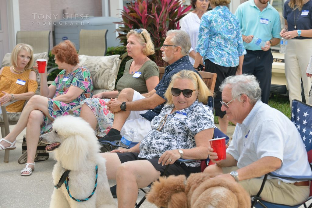 The perfect day as the crowd enjoyed the jazz band, Spruce Creek Fly In, Port Orange Florida.