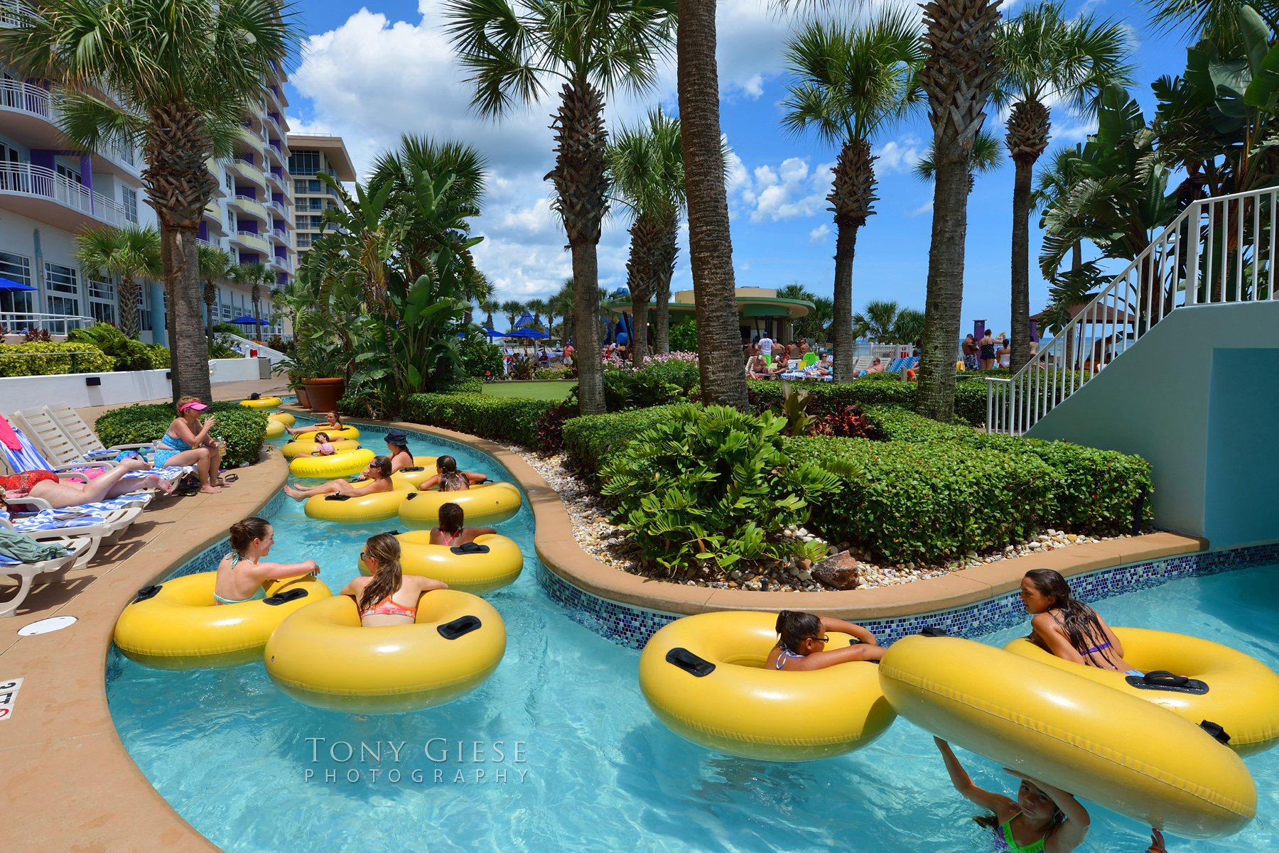Lazy River Inner Tubing On Daytona Beach Florida